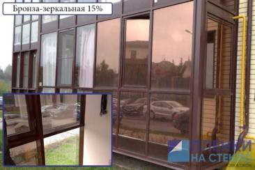 Окна с тонировкой бронза: изнутри и снаруди