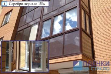 Тонировка балкона профессиональными пленками