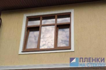 Реальная фотография тонировки окон в квартире