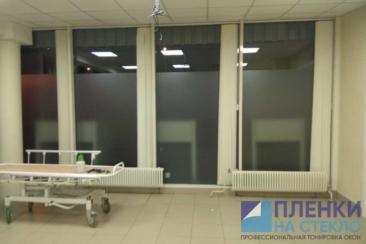 Тонировка стекол в офисе городской больницы