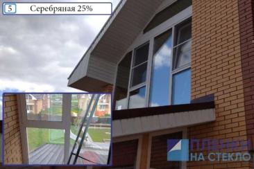 Затонируйте стекла на лоджии частного дома пленками